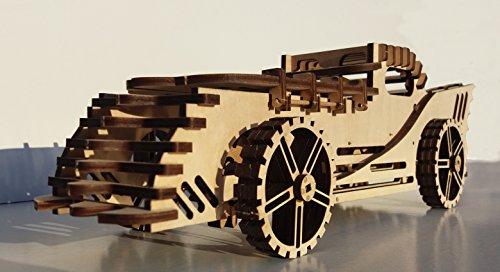 3D CAR Woodcraft Hobby Wooden Model Laser Cut/ Puzzle Kit