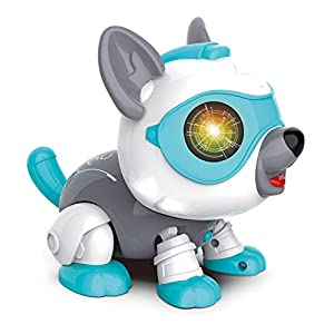 whelsara Smart Voice Control Pet Dog Toy Touch Sensor Electronic Robot Dog Model Interactive Smart Puppy Toy Robot…