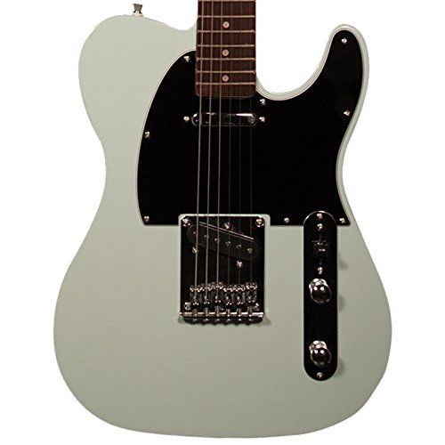 (Sawtooth ST-ET-SGRB Electric Guitar, Surf Green with Black Pickguard)
