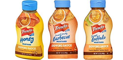 French's Mustard Dipping Sauces - Set of 3 - Sweet & Smoky Barbecue, Sweet Buffalo and Honey, 12oz each