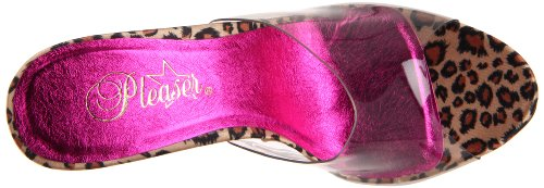 Pleaser - Sandalias mujer - Clear/Leopard