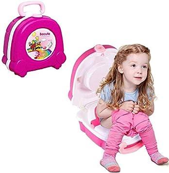 Kids Potty Training Strategy KJSMA Portable Travel Potty para ni/ños beb/és y ni/ños peque/ños Amarillo Urinal para ni/ños y ni/ñas Camping Car Travel Vacations
