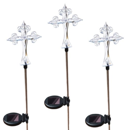 (Solaration 1016-3 Solar Lights with 3-Cross Set)