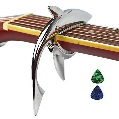 Cejilla tiburón de aleación zinc para guitarra acústica