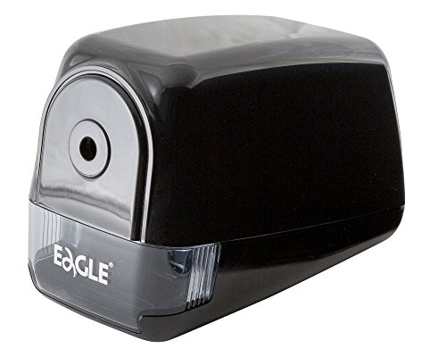 'Eagle' Electric Pencil Sharpener - Heavy Duty Helical Blade- Medium Use Motor with Overheat Protection - Perfect for Regular Pencils - Best for School, Home, and Office Use