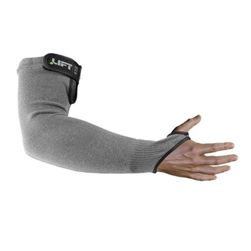 Lift Industrial Safety Gear SFV-15Y Workman Series FiberWire Gloves, Cut 5 Sleeve with Velcro Closure, One Size, Gray