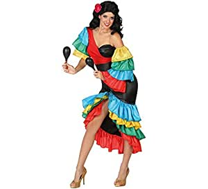 Atosa-26862 Disfraz Rumbera Multicolor, M-L (26862