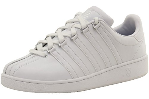 K-Swiss Men's Classic Vintage Updated Iconic Shoe, White/White, 9.5 M US