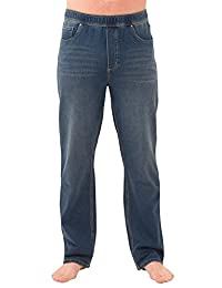PajamaJeans Men's Straight Leg Knit Denim Jeans
