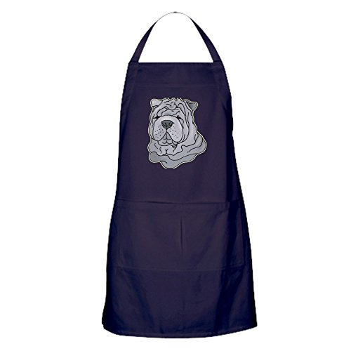 CafePress - Chinese Shar-Pei Apron (Dark) - 100% Cotton Kitchen Apron with Pockets, Perfect Grilling Apron or Baking Apron
