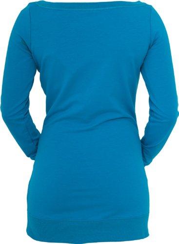 Urban Classics Ladies Long Crewneck TB392, size:XS, Farbe:turquoise