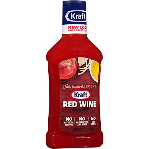 Kraft Red Wine Vinaigrette, 16 fl oz Bottle (Pack of 6)