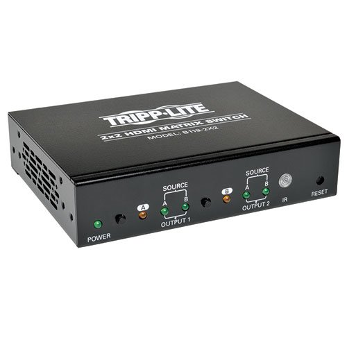 Tripp Lite 2x2 HDMI Matrix Switch for Video & Audio, (HDMI 2xF/2xF) 1080p at 60Hz (B119-2X2) -