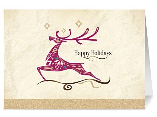 One Jade Lane - Holiday Wonder, Set of 20 Holiday Cards & Envelopes, 5x7, Heavy Stock.