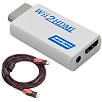 ONSEMI Wii To HDMI Automatic Upscaler 1080P Converter Adapter + 1.5M High Speed HDMI 1.4v Cable, 720/1080P HD Output Upscaling Converter - Supports All Wii Display Modes
