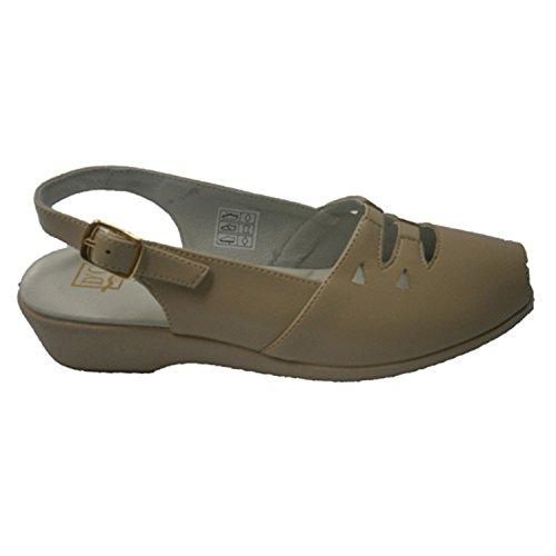 Sandale mit Gummi auf dem Blatt mit Lederfutter Doctor Cutillas beig Beig