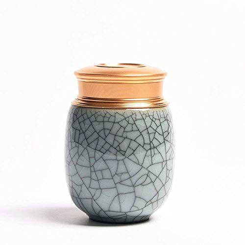ZAQXSW-xianglu Small Funeral Urn - Cremation Urn for Human Ashes Adult and Memorial Urn - Hand Made & Hand-Painted - Display Burial Urn at Home or in Niche at (Color : D)
