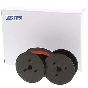 Faxland - Cinta de doble carrete, compatible con calculadora Olympia CPD 5212 E, color rojo/negro