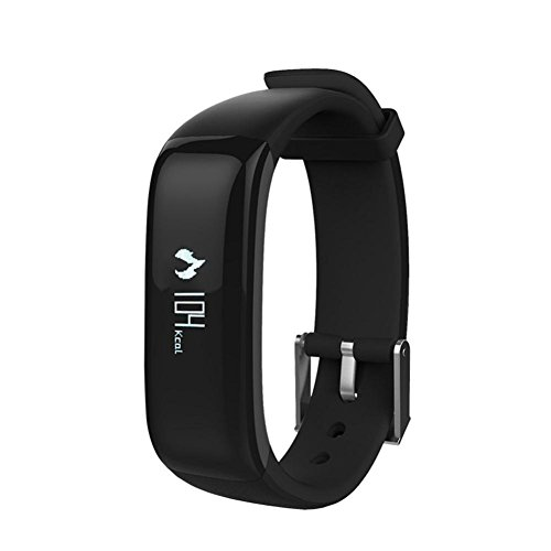 Zeshlla Bluetooth 4.0 LED Sport Watches Blood Pressure Heart Rate Sleep Monitoring Waterproof Fitness Tracker Smart Wrist Watch Bracelet (Black)