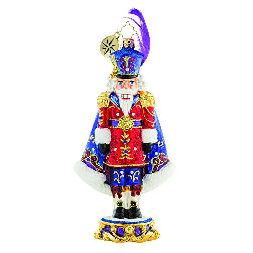Christopher Radko Nutcracker Jeweled Glass Ornament Purple Majesty Limited - Ornaments Nutcracker Radko