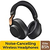Jabra Elite 85h Wireless Noise-Canceling Headphones, Copper Black - Over Ear Bluetooth Headphones Compatible with iPhone & Android - Built-in Microphone, Long Battery Life - Rain & Water Resistant
