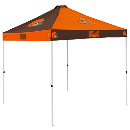 Logo Brands NFL Cleveland Browns Checkerboard Tent Checkerboard Tent, Orange, One Size