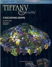 TIFFANY REVISITED - CASCADING GRAPE Stained Glass Lamp Pattern