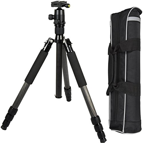 TERRA FIRMA TRIPODS T-CF450-BH280 Carbon Fiber 4 Section Tripod Leg Set with Ball Head BH280, Black by TERRA FIRMA TRIPODS