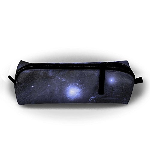 Blue Space Nebula Universe Unisex Pen Bag Zipper Cosmetic Bags Cylindrical ()