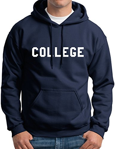New York Fashion Police Mens College Hoodie Funny College Hooded Sweatshirt Navy -