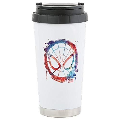 CafePress Spider Man Icon Splatte Stainless Steel Travel Mug Stainless Steel Travel Mug, Insulated 16 oz. Coffee Tumbler