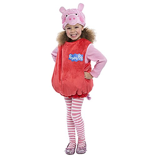 Pig Halloween Costumes (Peppa Pig Bubble Dress Costume, 3-4T)