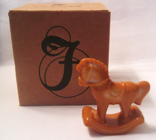Fenton Chocolate Glass Rocking Hobby Horse Figurine - Hobby Rocking Horse