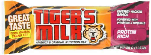 Tiger's Milk Protein Rich Energy Bar, 1.23-Ounce Bars, 24 Count (Pack of 2)