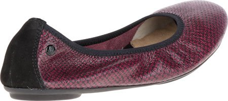 Hush Puppies Womens Chaste Ballet Flat Red/black Embossed Leather U7rN6T
