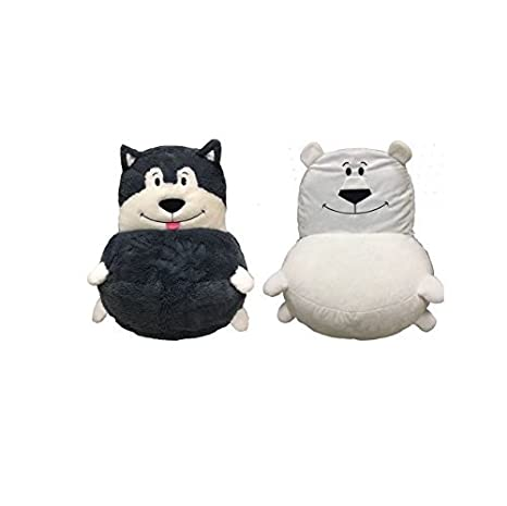 14d0e095673 Amazon.com  Flip Back and Forth Two Fluffy Characters Plush 2-in-1 ...