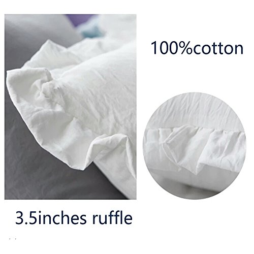 White ruffle throw pillow covers