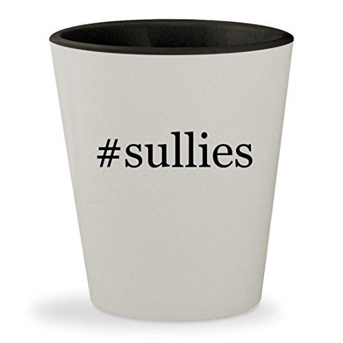 #sullies - Hashtag White Outer & Black Inner Ceramic 1.5oz Shot Glass