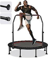 "KENSONE 40""/48"" Mini Trampoline for Adults Kids Foldable Fitness Exercise Rebounder for Indoor Outdo"