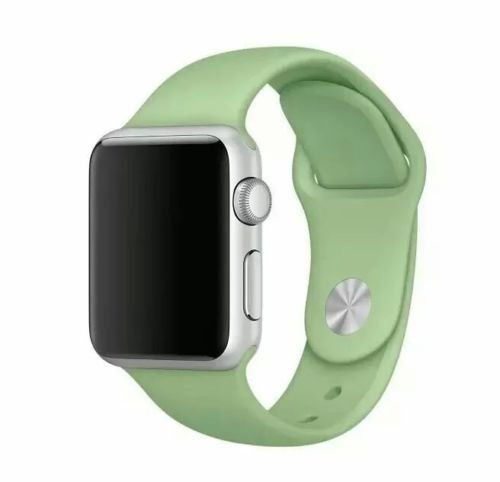 Price comparison product image 1 Unisex Sports Style 42mm Replacement Silicone Watch Band for Apple Smart Watch (M / L) (Turquoise)