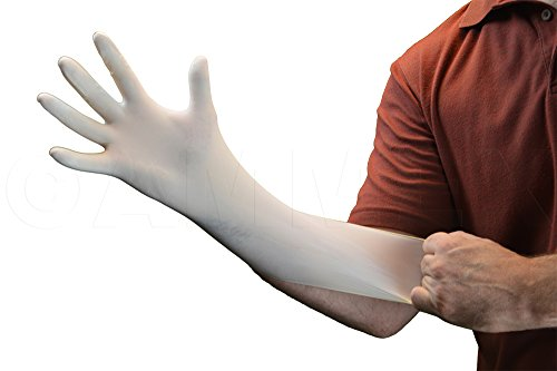 AMMEX - TLF42100 - Latex Gloves - Gloveworks - Disposable, Powder Free, Industrial, 4 mil, Small, White (Case of 1000) by Ammex (Image #2)