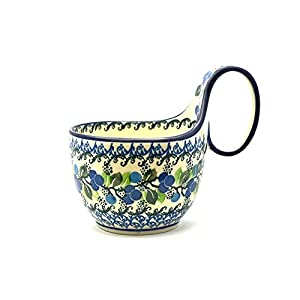 Polish Pottery Loop Handle Bowl – Blue Berries