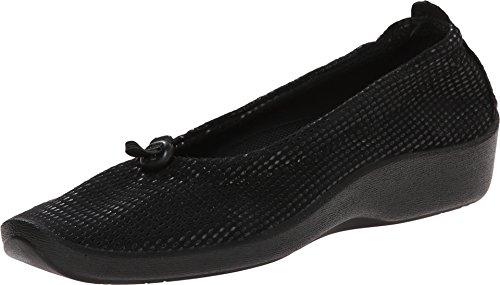 Arcopedico Women's L14 Flat Lagrimas Black 38 European