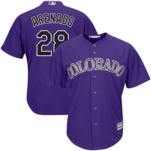 Mitchell Base - Mitchell & Ness Men's Colorado Rockies Nolan Arenado Cool Base Player Jersey Purple
