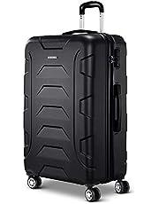 Wanderlite Luggage 4 Wheel Hard Shell Travel Suitcases Black