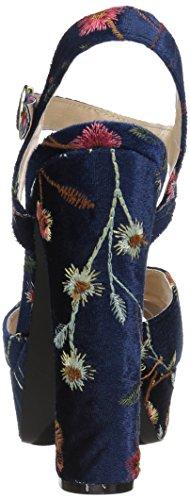 para Marino 83 Mujer Qupid Multicolor Azul tacón con Beat Sandalia qPB8wX6