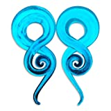 New Glow in the Dark Glass Pyrex Ear Gauges Tails Hangers Tapers Plugs Stretchers 0g (8mm): 7.7 grams (aprox. 3 U.S. pennies) Set13