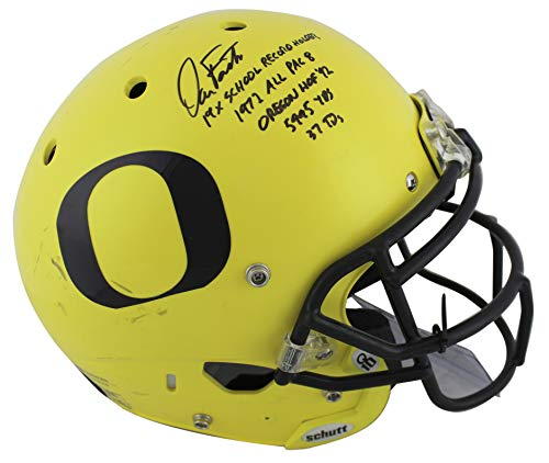 """Dan Fouts""""5x Inscribed"""" Signed Game Used 2016-18 Proline F/S Helmet BAS #P81193 -  PRESS PASS COLLECTIBLES"""