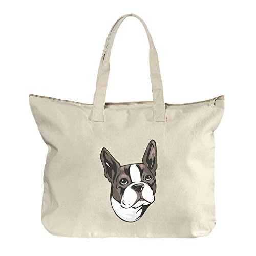 Canvas Beach Zipper Tote Bag Tote ()