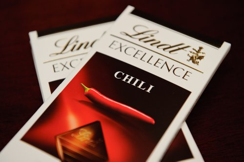Lindt Excellence Dark Chocolate with Chili Bar, 3.5 Oz, 2 Pa